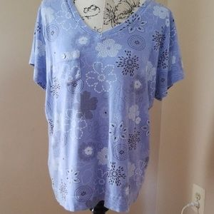 Periwinkle Blue w design top